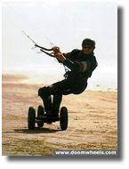 Kite Boarding on 3 wheels.