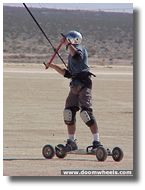 Kite Boarding on Ivanpah Dry Lake, Ca./Nv.