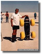 Troy Navarro's self-made kite board on the Bonneville Speedway.