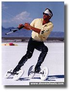 Vintage kiteskating on the Bonneville Speedway 1994.