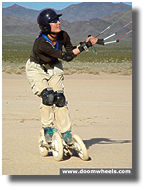 The First woman off-road kite skater.